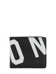 Dsquared Icon Printed Leather Classic Wallet Black