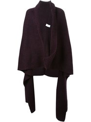 Scanlan Theodore Wrap Cape Cardigan Pink And Purple