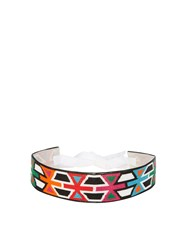 Andrew Gn Geometric Bead Embellished Belt Pink Multi