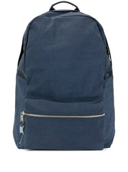As2ov Front Zip Backpack Blue