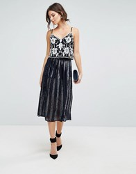 Coast Sequin Panelled Skirt Navy
