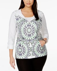 Styleandco. Style And Co. Plus Size Printed Hoodie Only At Macy's White Heat