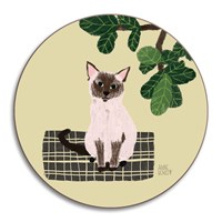 Avenida Home Anne Bentley Cats Coaster Siamese