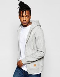 Native Youth Quilted Hoodie Grey
