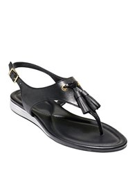 Cole Haan Rona Grand Thong Sandals Black