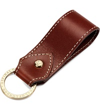 Aspinal Of London Leather Loop Keyring Cognac