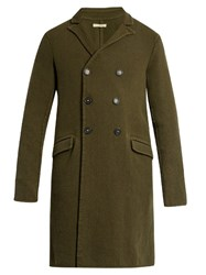 Massimo Alba Double Breasted Wool Coat Khaki