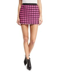 Marc Jacobs Tweed A Line Miniskirt Pink