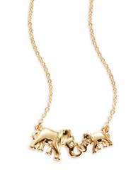 Kate Spade Mom Knows Best Elephant Necklace Gold