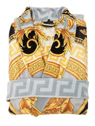 Versace La Coupe Des Dieux Bath Robe Grey Gold