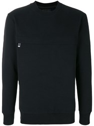 Blood Brother Chest Zip Sweatshirt Black