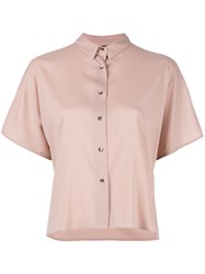Eleventy Shortsleeved Shirt Pink Purple