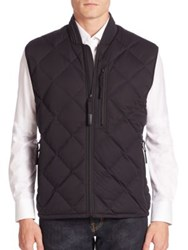 Andrew Marc New York Diamond Quilted Down Vest Black