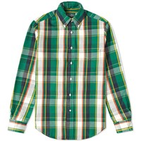 Gitman Brothers Vintage Button Down Oxford Twill Check Shirt Green
