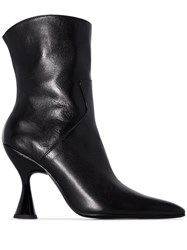 Dorateymur Curved Heel 95Mm Ankle Boots Black