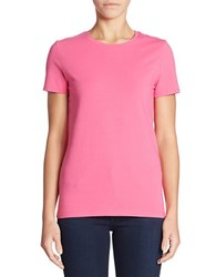 Lord And Taylor Cotton Stretch V Neck Tee Purple