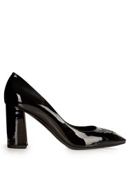 Bottega Veneta Cherbourg Patent Leather Pumps Black
