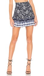 Bb Dakota Well Traveled Skirt In Navy.