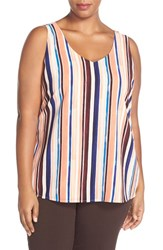 Plus Size Women's Halogen Double V Neck Shell