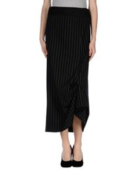 Oblique Long Skirts Black