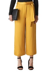 Whistles Belted Wide Leg Pants Gold