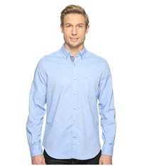 Nautica Solid Oxford L S Woven Shirt French Blue Men's Long Sleeve Button Up