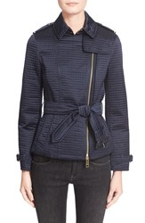 Women's Burberry Brit 'Cranemore' Short Belted Quilted Trench Coat