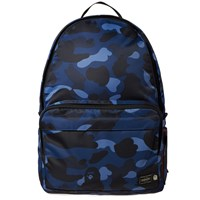 A Bathing Ape X Porter Colour Camo Day Pack Blue