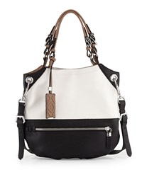 Sydney Colorblock Tote Bag White Multi Oryany
