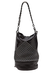 Laura B Chain Mesh Bag Black