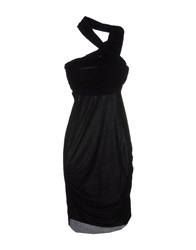 Uniqueness Dresses Knee Length Dresses Women Black