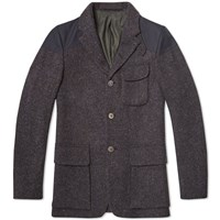 Nigel Cabourn Classic Mallory Jacket New Black Harris Tweed