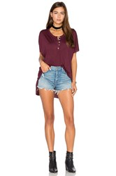 Nation Ltd. Leona Henley Tee Burgundy
