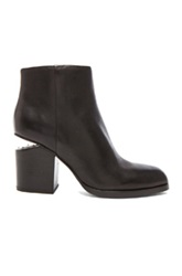 Alexander Wang Gabi Leather Ankle Booties In Black