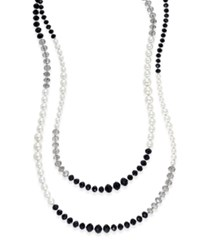 Charter Club Tri Color Imitation Pearl Extra Long Strand Necklace Only At Macy's Black White