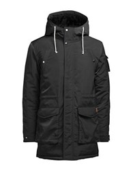 Jack And Jones Jorsnow Hooded Parka Black