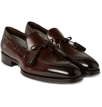 Tom Ford Tasselled Burnished Leather Loafers