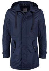 Knowledge Cotton Apparel Short Coat Total Eclipse Dark Blue
