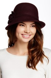 Collection Xiix Mini Flower Wool Cloche Hat Red