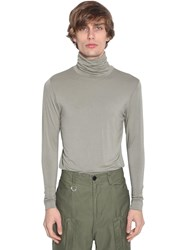 Ambush Embroidered Rayon Turtle Neck Ls T Shirt Khaki