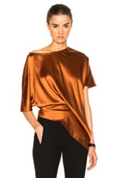 Ann Demeulemeester Short Sleeve Baggy Top In Orange