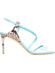 Casadei Mid Heel Sandals Blue