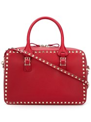 Valentino Studded Tote Red