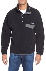 Men's Patagonia 'Synchilla Snap T' Fleece Pullover Black Forge Grey