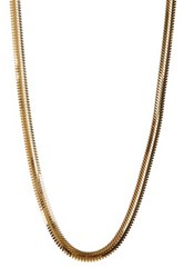 Argentovivo 18K Gold Plated Sterling Silver 16' Flat Snake Chain Necklace Metallic