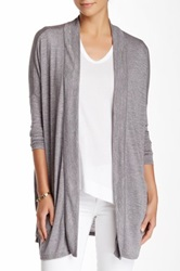 14Th And Union Twisted Melange Cardigan Gray