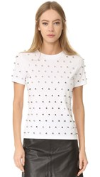 Thierry Mugler Short Sleeve T Shirt Optic White