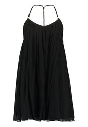 Abercrombie And Fitch Easy Throw On Swing Summer Dress Black