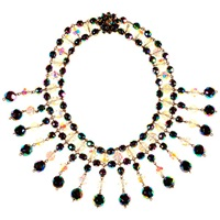 Alice Joseph Vintage 1950S Vitreous And Austrian Bead Collar Necklace Multi