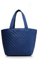 M Z Wallace Mz 'Medium Metro' Quilted Oxford Nylon Tote Blue Estate Blue